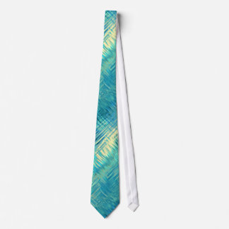 Aquamarine Blue Crystal Gel Texture Tie