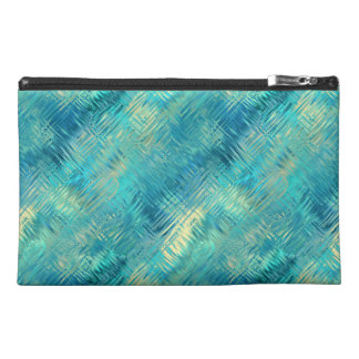 Aquamarine Blue Crystal Gel Texture Travel Accessory Bags