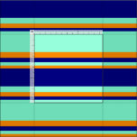 [ Thumbnail: Aquamarine, Blue & Dark Orange Colored Lines Fabric ]