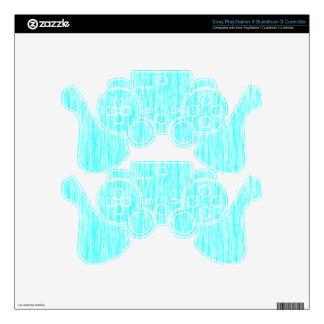 Aquamarine-Blue-Dark-Violet-Render-Fibers-Pattern PS3 Controller Skin