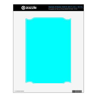 Aquamarine Blue  Elegant Fashion Color Decals For The NOOK