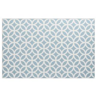 Aquamarine Blue Geometric Pattern Fabric