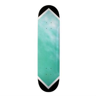 Aquamarine Blue Green Black Customizable Deck 2