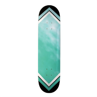 Aquamarine Blue Green Black Customizable Deck 3