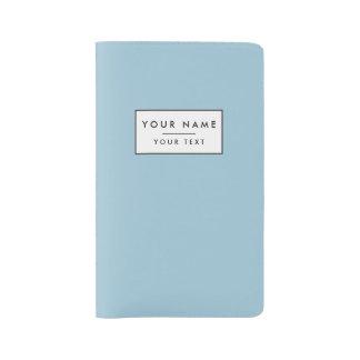 Aquamarine Blue High End Solid Color Large Moleskine Notebook