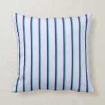 [ Thumbnail: Aquamarine, Blue, Midnight Blue & Lavender Colored Throw Pillow ]