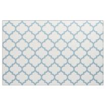 Aquamarine Blue Moroccan Trellis Pattern Fabric