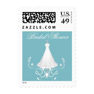 Aquamarine Bride's Dress Stamps