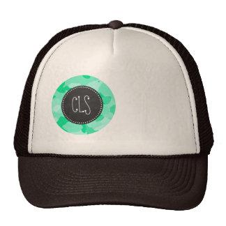 Aquamarine Camo; Camouflage; Retro Chalkboard Trucker Hat