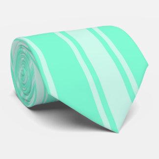 Aquamarine Color Stripe Funky Pattern Tie