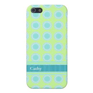 Aquamarine colorido y caja chartreuse del iPhone 5 iPhone 5 Protectores
