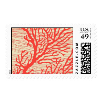 Aquamarine coral reef - resort by Ceci New York Postage Stamp