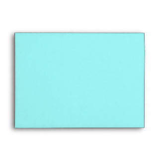 Aquamarine Custom Envelope