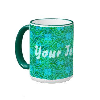 Aquamarine Damask mug