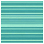 [ Thumbnail: Aquamarine & Dark Cyan Lined/Striped Pattern Fabric ]