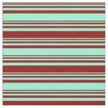 [ Thumbnail: Aquamarine & Dark Red Colored Pattern Fabric ]