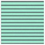 [ Thumbnail: Aquamarine & Dark Slate Gray Lines Fabric ]