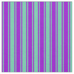 [ Thumbnail: Aquamarine & Dark Violet Colored Pattern Fabric ]