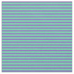 [ Thumbnail: Aquamarine & Dark Violet Lines/Stripes Pattern Fabric ]