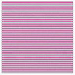 [ Thumbnail: Aquamarine & Deep Pink Colored Stripes Fabric ]