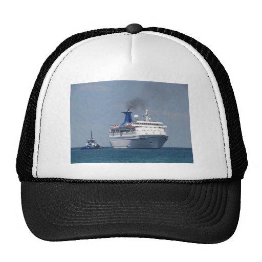 Aquamarine del barco de cruceros gorros bordados