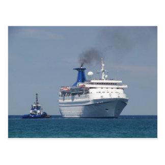 Aquamarine del barco de cruceros postal