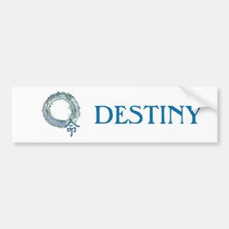 Aquamarine Destiny - Enso Bumper Sticker