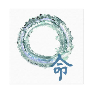 Aquamarine Destiny, Enso Canvas Print
