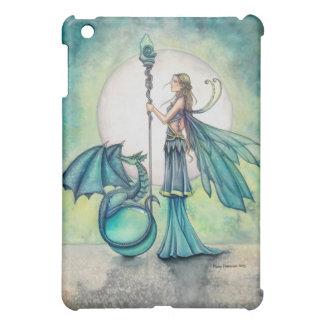Aquamarine Dragon and Fairy Fantasy Art iPad Mini Case
