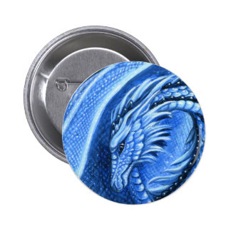 Aquamarine Dragon Button