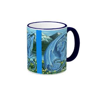 Aquamarine Dragon Wraparound Mug