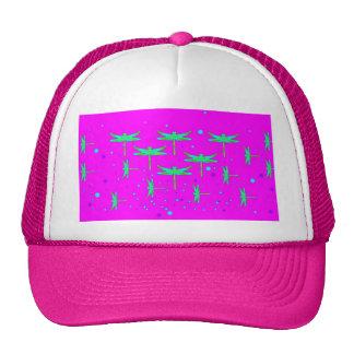 Aquamarine Dragonfly Purple Dreaming by SHARLES Hat