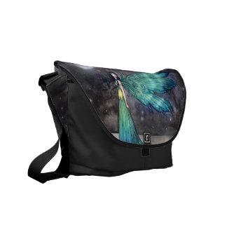 Aquamarine Eve Gothic Fairy Fantasy Messenger Bag