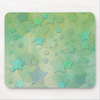 Aquamarine Fantasy Stars Mouse Pad