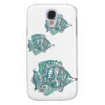 Aquamarine Fantasy Swirly Fish Samsung Galaxy S4 Case