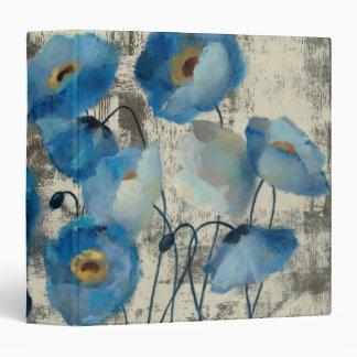 Aquamarine Floral Binder