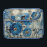"""Aquamarine Floral MacBook Pro Sleeve<br><div class=""""desc"""">&#169; Silvia Vassileva / Wild Apple.  A beautiful image of blue flowers in full bloom. Stems,  leaves,  and a faded background can be seen on the image.</div>"""