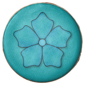 Aquamarine flower petals chocolate dipped oreo