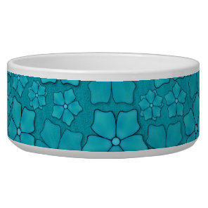 Aquamarine flower petals food bowl
