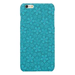 Aquamarine flower petals glossy iPhone 6 plus case