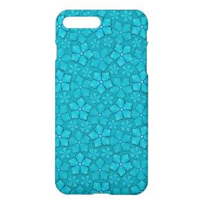 Aquamarine flower petals iPhone 8 plus/7 plus case