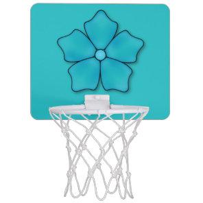 Aquamarine flower petals mini basketball backboard