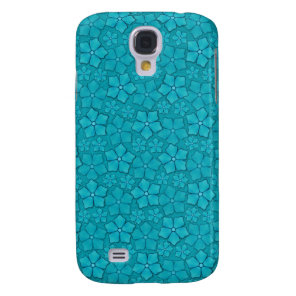 Aquamarine flower petals samsung galaxy s4 case
