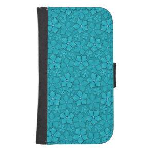 Aquamarine flower petals samsung s4 wallet case