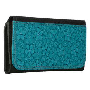Aquamarine flower petals wallet
