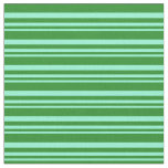 [ Thumbnail: Aquamarine & Forest Green Colored Stripes Fabric ]
