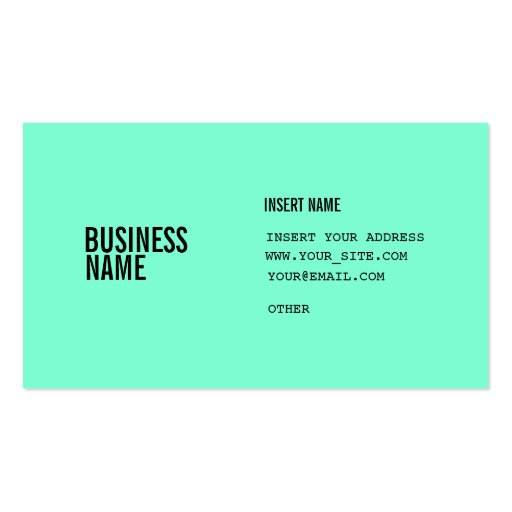 Aquamarine format with columns condensed fonts business for What size font for business card