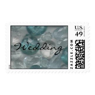 Aquamarine Gems Postage Stamps