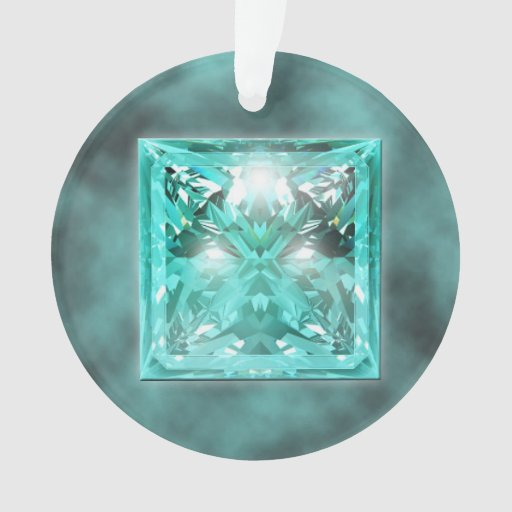aquamarine gemstone ornament zazzle