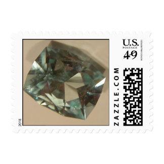 Aquamarine Gemstone Postage Stamp